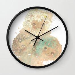 Twee Posy Wall Clock