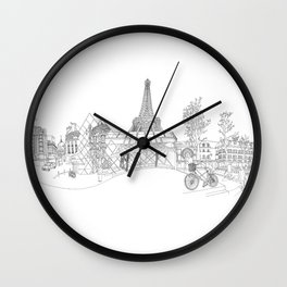 Paris! Version#1 Wall Clock