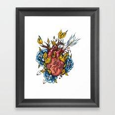 Pomegranate Heart Framed Art Print