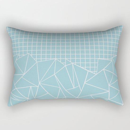 Ab Outline Grid Salty Rectangular Pillow
