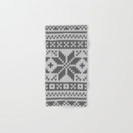 Winter knitted pattern4 Hand & Bath Towel