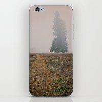 hiking iPhone & iPod Skins featuring Hiking in the Fog by Kurt Rahn