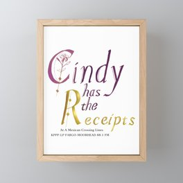 She has the Receipts! Framed Mini Art Print