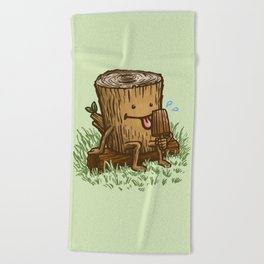 The Popsicle Log Beach Towel