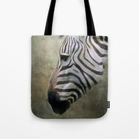 zebra Tote Bags featuring Zebra by Pauline Fowler ( Polly470 )