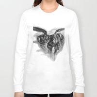 big hero 6 Long Sleeve T-shirts featuring Baymax Big Hero 6 by VivianLohArts