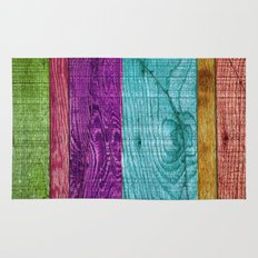 Colorful Wood  Rug