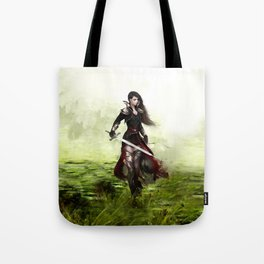 Lady knight - Warrior girl with sword concept art Tote Bag