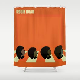 Hedgie road Shower Curtain