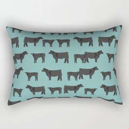 Angus Cattle breed farm gifts must have cow animal Rectangular Pillow
