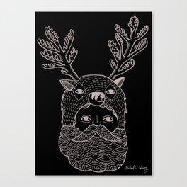 Portrait of Northern Deer Man Canvas Print