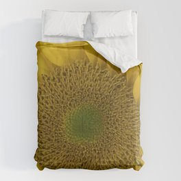 Heart of a Sunflower Comforters