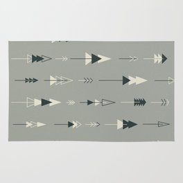 Forest Ready trees & arrows pattern (gray) Rug