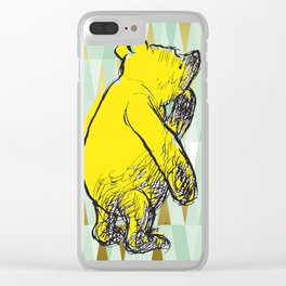 Thinking Pooh Clear iPhone Case