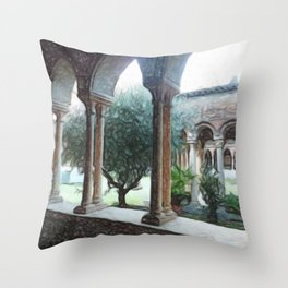Spiritual place Throw Pillow