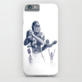 Quarterback throwing a touchdown pass. iPhone Case