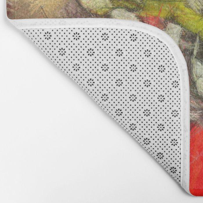 Popy variation 6th - pencil Bath Mat