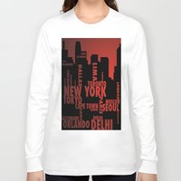 cities Long Sleeve T-shirts featuring Cities by Colin Webber