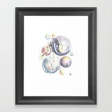 Bubbles Framed Art Print