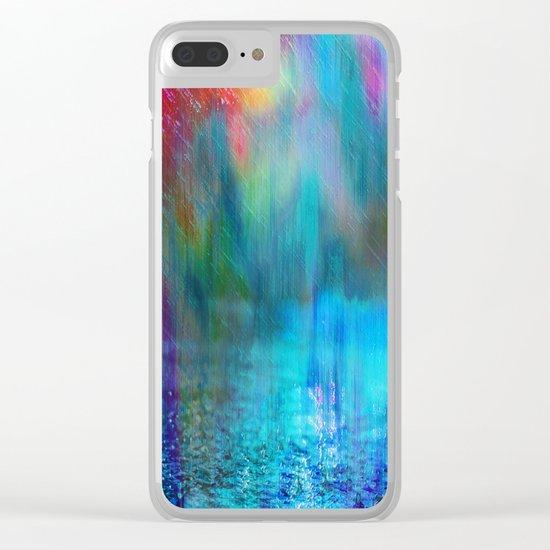 Rain Curtain Clear iPhone Case