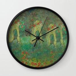 Autumn Memory by Lu Wall Clock