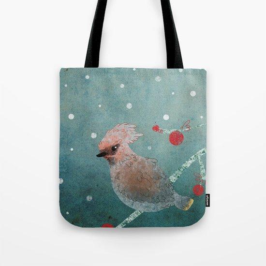 Tweet in the Snow Tote Bag
