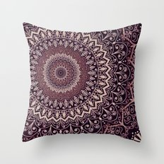MARSALA MANDALA Throw Pillow