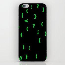 Code chars iPhone Skin