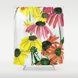 Chaotic Sunrise Shower Curtain