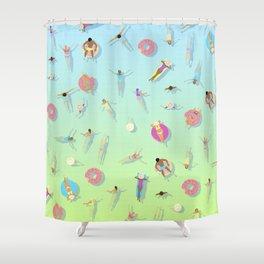summer swim / pool pattern Shower Curtain
