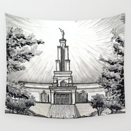San Antonio Texas Temple II Wall Tapestry