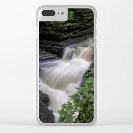 Tumbling Through the Glen - Watkins Glen, New York Clear iPhone Case