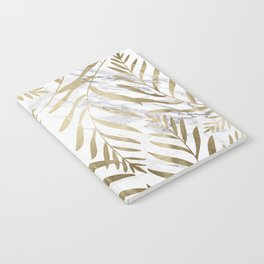 Gold and Marble Leaves Notebook