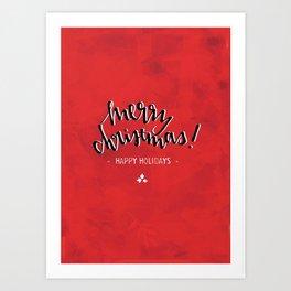 Merry Christmas (Red) Art Print