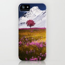 When Flowers Bloom And The Mountains Froze iPhone Case
