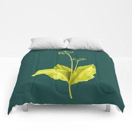 Wild Garlic Plant Botanical Art In Green Comforters
