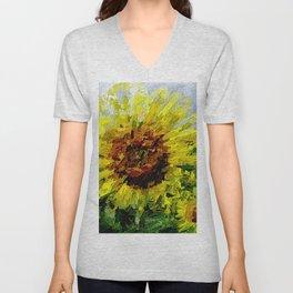 Sonnenblume Unisex V-Neck