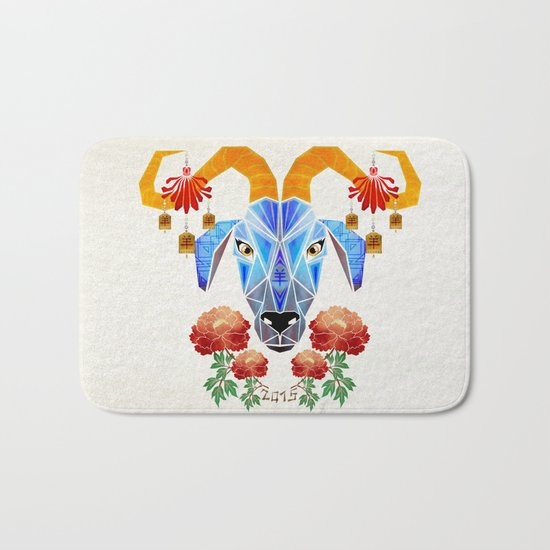 chinese goat Bath Mat