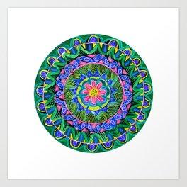 Jungle Dance Mandala Art Print