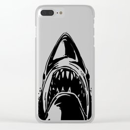 Shark. Scary jaws of deep sea waters. Clear iPhone Case