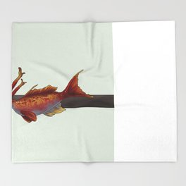Red Anthias Throw Blanket
