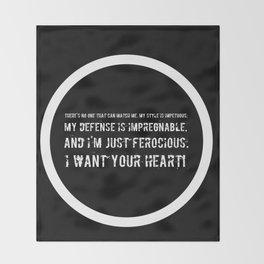 Impetuous, Impregnable, Ferocious, Heart Throw Blanket