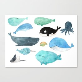 Deep in the sea Canvas Print
