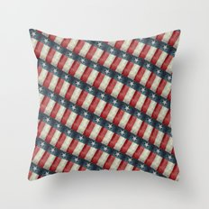 Retro style Texas state flag pattern Throw Pillow
