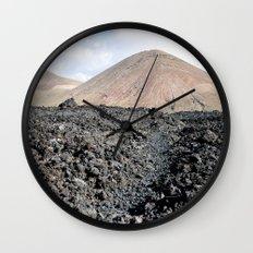 Volcano land Lanzarote Wall Clock