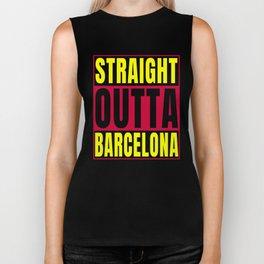 Straight Outta Barcelona Catalonia Art Design Biker Tank