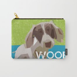 """""""WOOF"""" ~ Dachshund, Weiner Dog, Doxie, everywhere! Carry-All Pouch"""