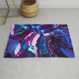 Neon River reflection Rug