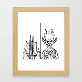 B&W Weirdos 12 Framed Art Print