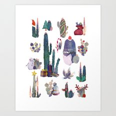 CACTUS CHRISTMAS!!!  Art Print